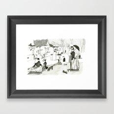 Seurat Sunday Afternoon Framed Art Print