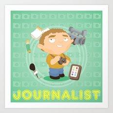 Journalist Art Print