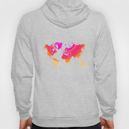 Pink world map Hoody