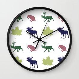 Fur Trader Print Wall Clock