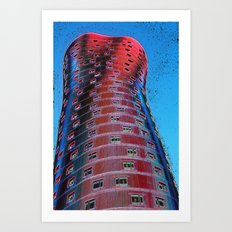 Torre Fira bcn Art Print