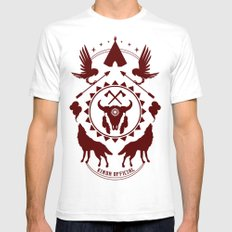 Indian Spirit SMALL White Mens Fitted Tee