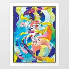 King Triton's Daughter Art Print