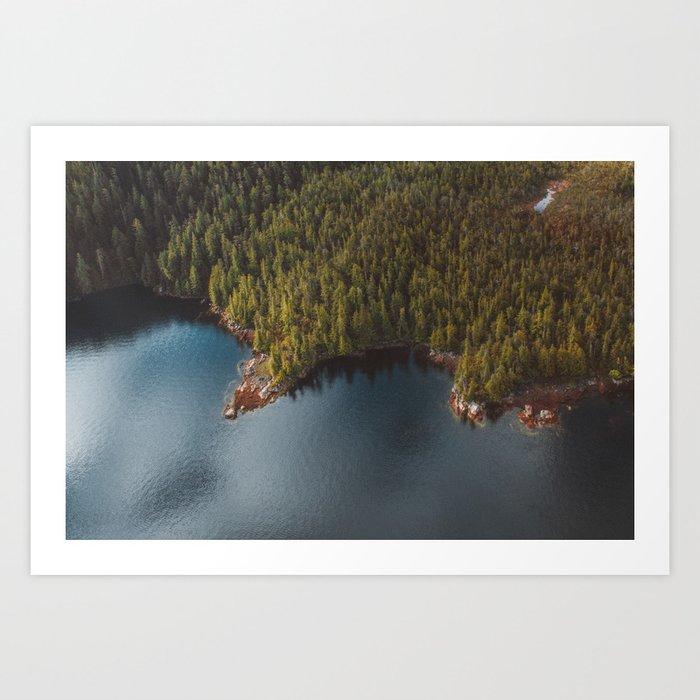Alaskan Coast Art Print