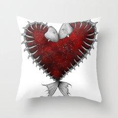 Heart - Fish Throw Pillow