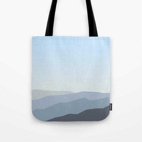 Blue Landscape Tote Bag