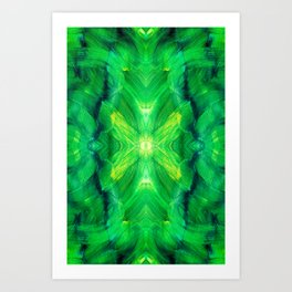 Brush play in hues of green 13 Art Print