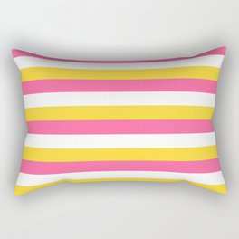 Simple striped design with beautiful bright summer colors Rectangular Pillow