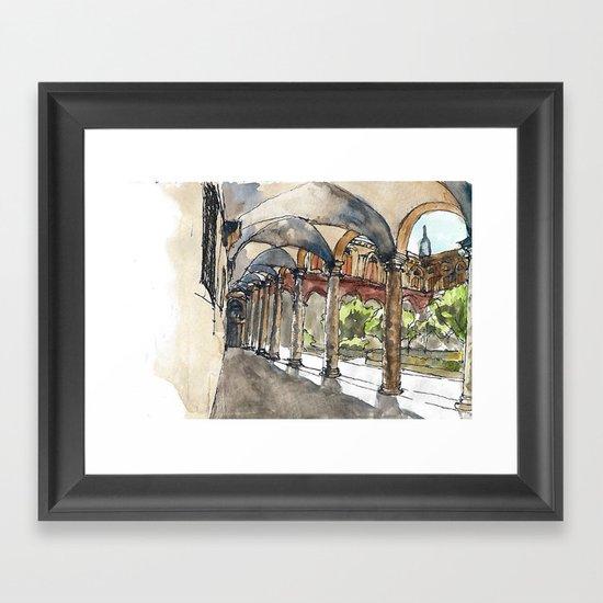 garden digression Framed Art Print
