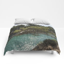 Tranquil Bay at Mallorca Island Comforters