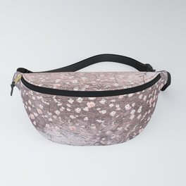 Shiny Spring Flowers - Pink Cherry Blossom Pattern Fanny Pack
