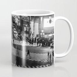 Shibuyacrossing at night - monochrome Coffee Mug