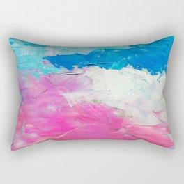 Colorful Oil Painting Rectangular Pillow