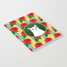 Fat D. Loves Roses Notebook