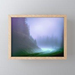 Alien Arrival Framed Mini Art Print