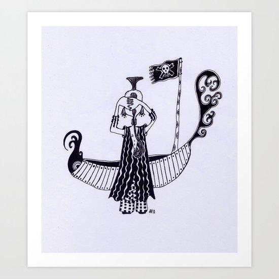 B&W 2 Art Print