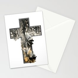 Fluid Art Cross Stationery Cards