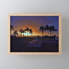 Shadows Over Paradise Framed Mini Art Print