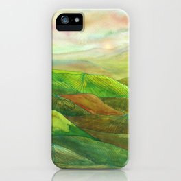 Lines in the mountains XVI iPhone Case
