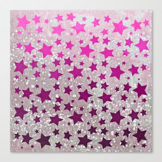 All Stars...Galaxy Pink Canvas Print