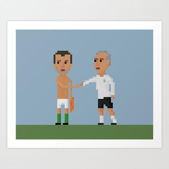 Roy Keane / Mick McCarthy handshake Art Print