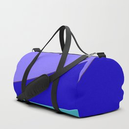 Minimal With Blue Duffle Bag