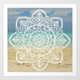 Beach Mandala Art Print