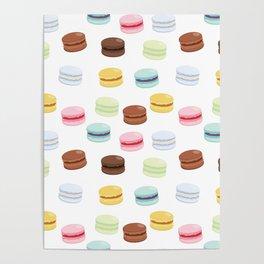 Sweet Macaroon Pattern Poster