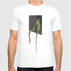 Untitled.4 White MEDIUM Mens Fitted Tee