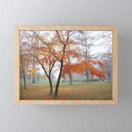 Foggy Fall Framed Mini Art Print