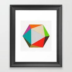 Icosahedron Framed Art Print