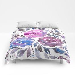 Dreamy Watercolor Flowers Comforters