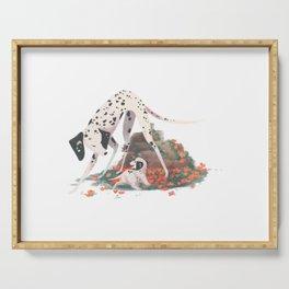 doggust: dalmatians Serving Tray
