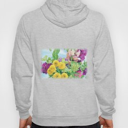 """Splash of Color"" Floral Art by Murray Bolesta Hoody"