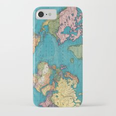 Vintage Map of The World (1897) Slim Case iPhone 7
