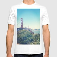The Golden Gate MEDIUM White Mens Fitted Tee