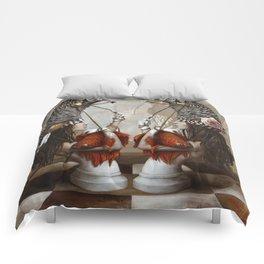 Les Cavalières Blanches Comforters