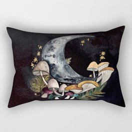 Mushroom Moon Rectangular Pillow