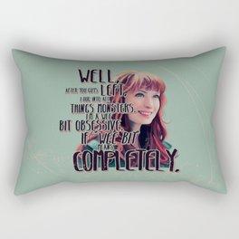 Obsessed - Charlie Bradbury Supernatural Rectangular Pillow