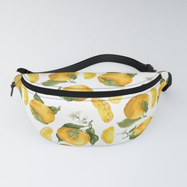 Blooming flowers and juicy citrus fruits with slices Fanny Pack