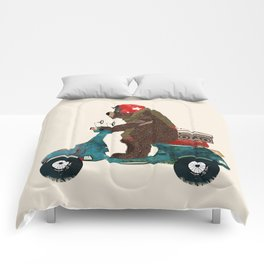 scooter bear Comforters