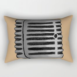 Old Microphone Rectangular Pillow