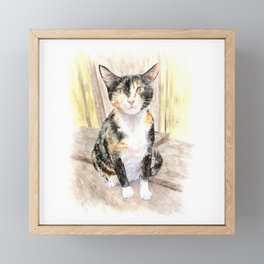 Female Cat at Tai O - a Mother-to-be Framed Mini Art Print
