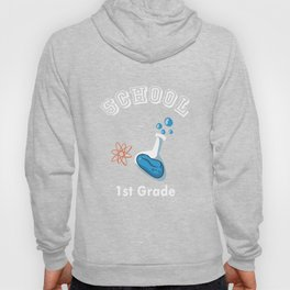 1st First Grade Chemical Investigator Back to School print Hoody