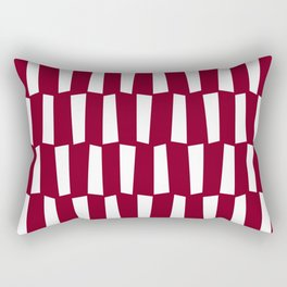 Dark red and white abstract shapes pattern Rectangular Pillow