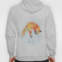 Leaping Fox Watercolor Hoody
