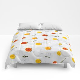 orange slices pattern Comforters