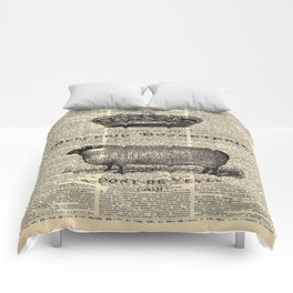 french dictionary print jubilee crown western country farm animal sheep Comforters