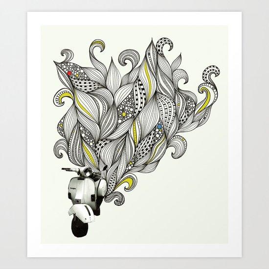 Scoot Art Print