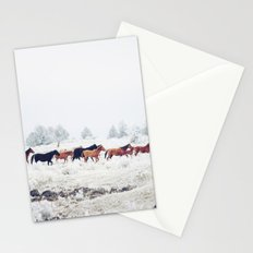 Winter Horse Herd Stationery Cards
